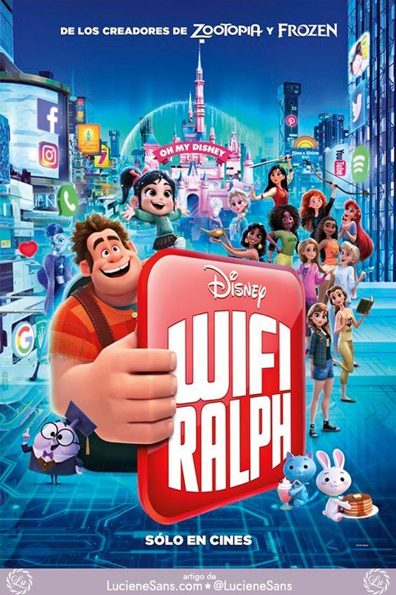 Novo Poster De Detona Ralph 2 Com Princesas Disney Em Roupas Modernas E Casuais Wifi Ralph Quebrando A Filmes Completos Filmes Infantil Para Assistir Filmes