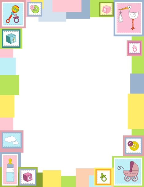 free baby shower borders for microsoft word a baby themed border with