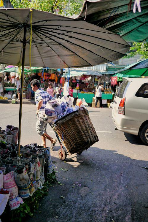 Bangkok's largest flower market, Pak Klong Talat, Thailand