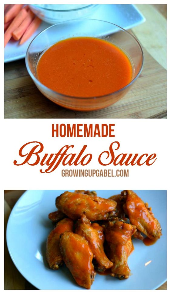Butter, hot sauce and garlic combine for an easy and delicious homemade  buffalo sauce! |GrowingUpGabel.com