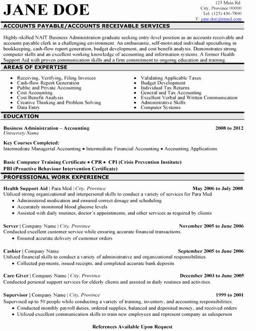 Accounts Payable And Receivable Resume New 8 Best Best Accounts Receivable Resume Templates Sample Accountant Resume Resume Template Examples Resume Examples