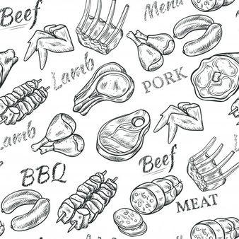 Carne Vectores Fotos De Stock Y Psd Gratis En 2020 Carne De Res Filetes De Carne Comida Artistica