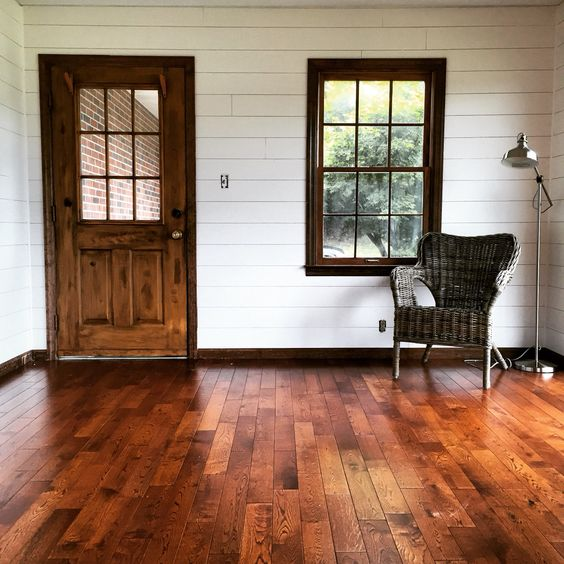 Shiplap sunroom We used 4x8 underlayment plywood from