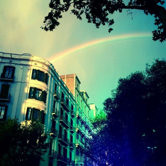Rainbow in Barcelona