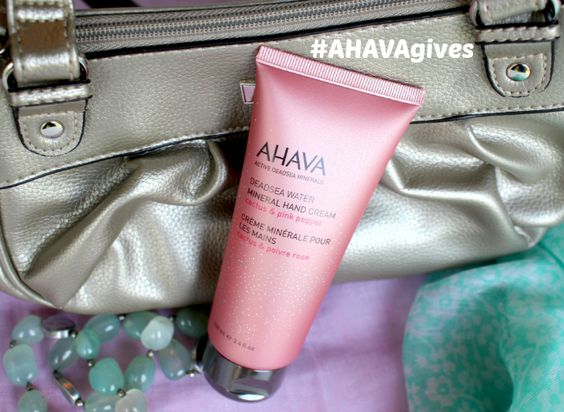 AHAVA Cactus & Pink Pepper Mineral Hand Cream Supports Breast Cancer Awareness Month - click BELOW for a VERY simple way for YOU to give to this cause!