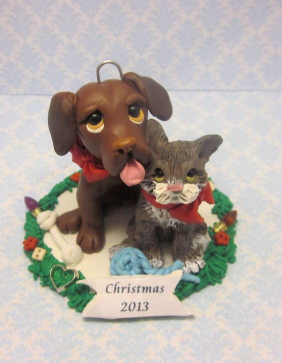 Custom Pet Ornament by lynnslittlecreations on Etsy, $35.00
