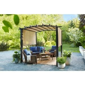 Paragon Outdoor Paragon 11 Ft X 11 Ft Aluminum Pergola With The Look Of Chilean Wood Grain Finish And Cocoa Color Conve Outdoor Pergola Pergola Patio Pergola