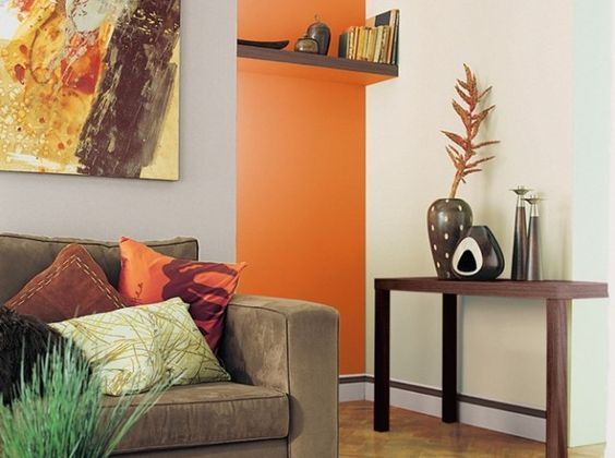canap taupe mur couleur chaude deco peinture pinterest taupe inspiration et orange. Black Bedroom Furniture Sets. Home Design Ideas