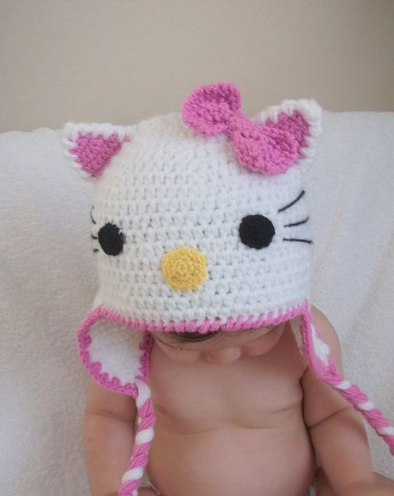 5 Hello Kitty Knit Hat Patterns - The Funky Stitch 499f85924d3
