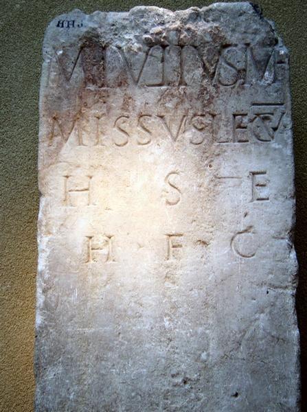 Heerlen, tombstone of Marcus Julius soldier of V Alaudae (CIL 13.8711) 9 CE–69 CE Leiden, Rijksmuseum voor Oudheden
