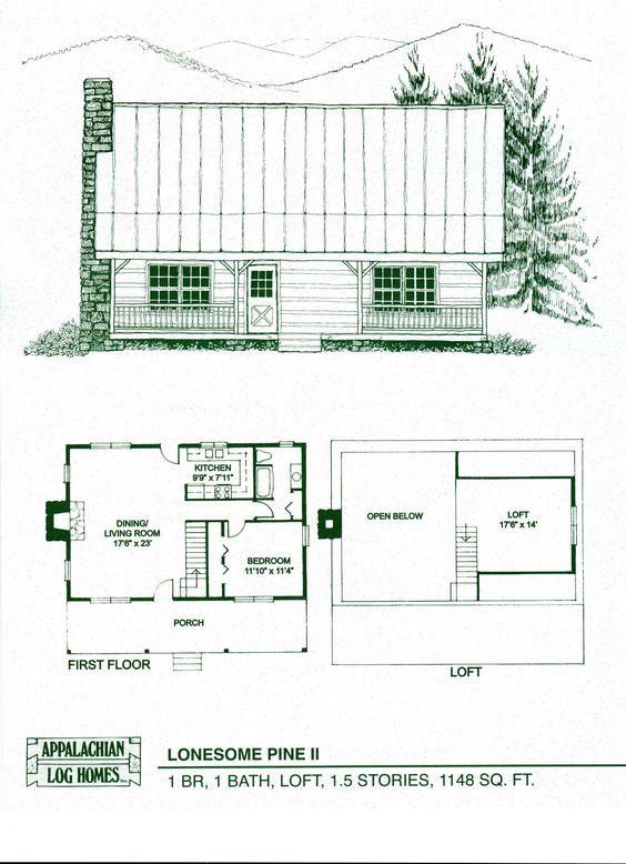 Log home floor plans log cabin kits appalachian log for Appalachian house plans