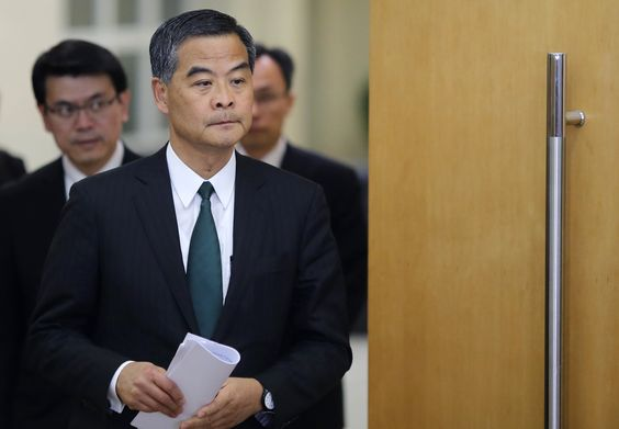 Hong Kong CEO Tries to Shift Focus from Election Reform