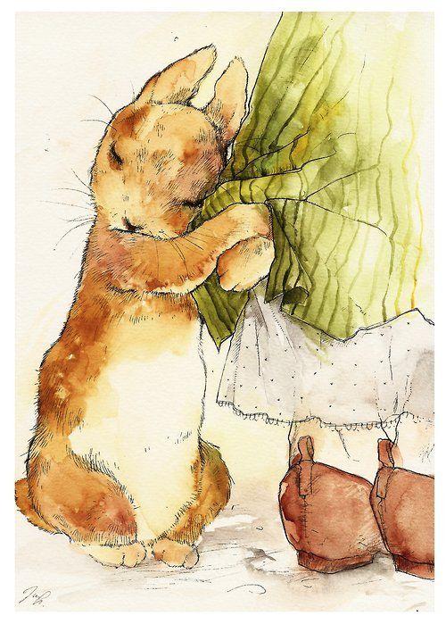 Baby Bunny - I love watercolors