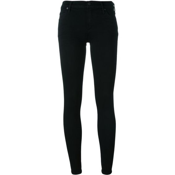 Citizens Of Humanity Ultra Skinny Jeans ($288) via Polyvore featuring jeans, black, skinny jeans, denim skinny jeans, skinny fit jeans, skinny leg jeans and cut skinny jeans