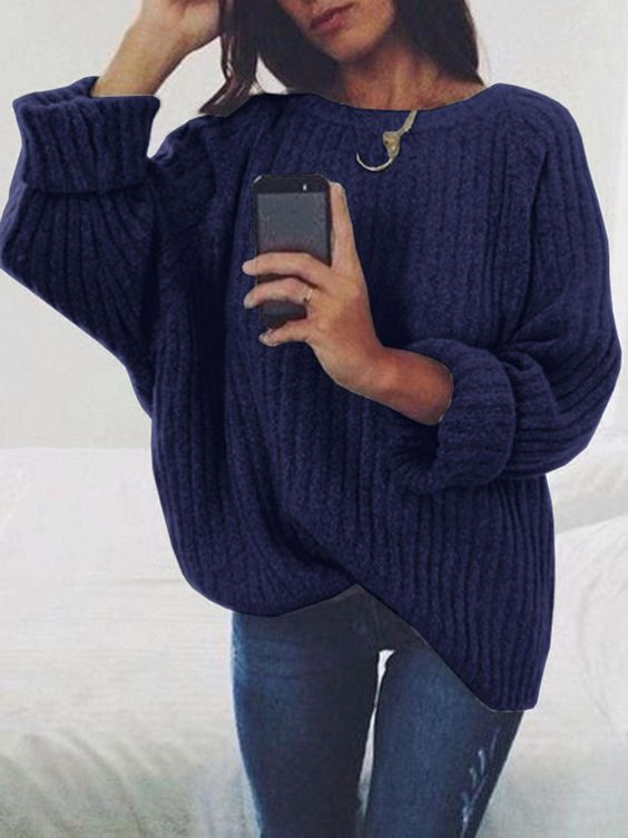 Beautiful Knitted Women Pullover