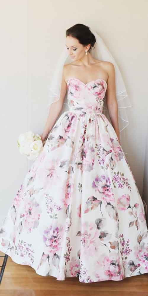 18 Colorful Wedding Dresses Perfect For Non-Traditional Bride ❤ Colourful wedding dresses look fresh in comparison with traditional white dresses. See more: http://www.weddingforward.com/colourful-wedding-dresses/ #wedding #dress