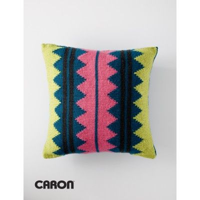 In Vivid Color Pillow - Patterns | Yarnspirations