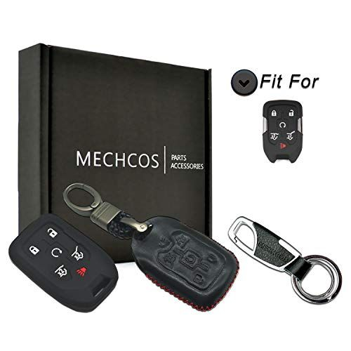 Mechcos Compatible With Fit For 2015 2016 2017 2018 2019 Chevrolet Suburban Tahoe 2015 2018 Gmc Yukon Xl 6 Buttons Leather Smar Gmc Yukon Key Fob Gmc Yukon Xl