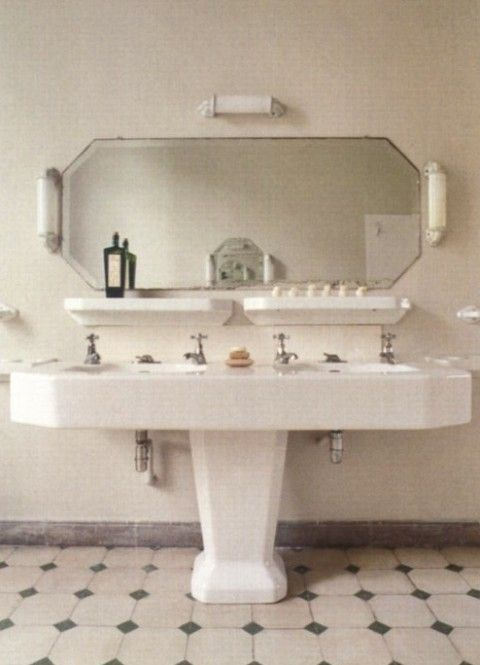 Double basin pedestal sink google search bathroom for Double bathroom sink basin