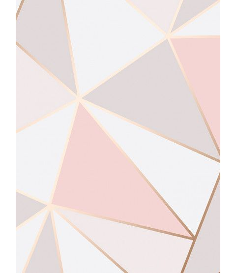 Apex Geometric Wallpaper Rose Gold Fine Decor Fd41993 Geometric Wallpaper Rose Gold Rose Gold Bedroom Wallpaper Bedroom