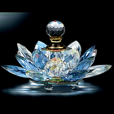 Crystal Lotus Perfume Bottle: