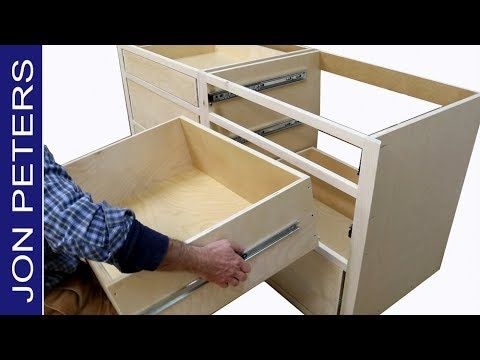How To Install Kitchen Cabinets Youtube 29) How to Build Kitchen Cabinets & Install Drawer Slides