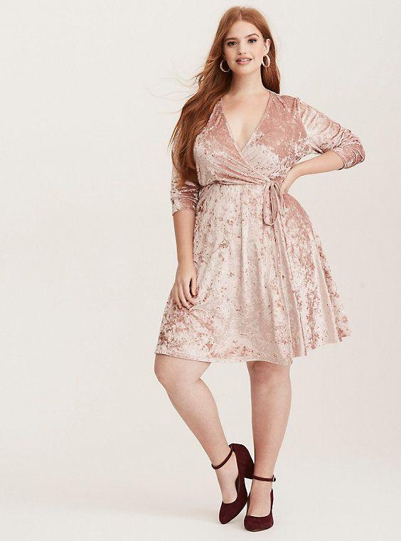 32++ Club l plus wrap front velvet mini dress trends