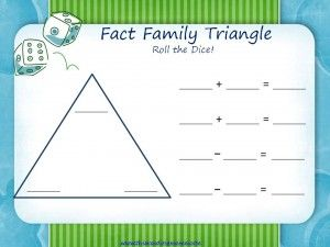 Fact families, Triangles and Facts on PinterestFact Family Triangle ...