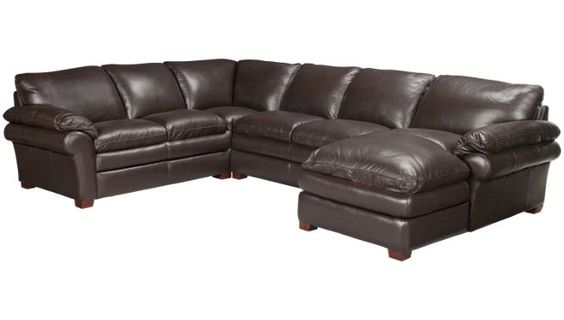 Leather Sectionals Jordans And Leather On Pinterest