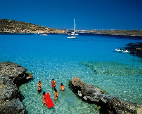 The Blue Lagoon in the Maltese Islands- where I'm from!