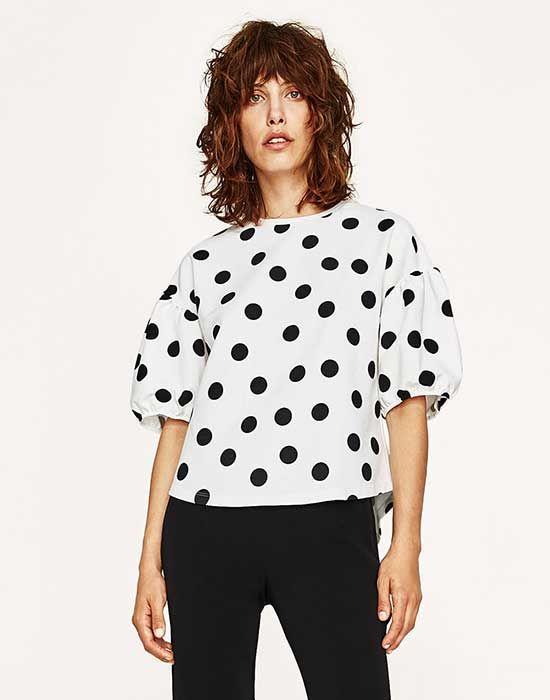 El Fenómeno De La Blusa De Lunares Dónde La Viste Primero En Zara O En Instagram Blusa De Lunares Moda Zara Zara Lookbook