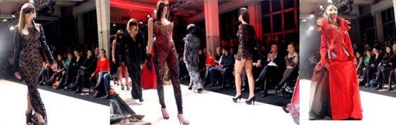 """Die Show """"Phoenix"""" der Designerin Julia Starp zeigte viele ungewöhnliche Schnitte und Formen."""