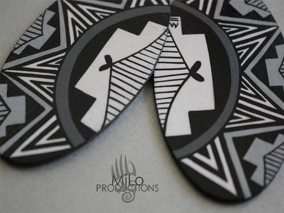 Cool Gray Skies earrings by MiLoProductions