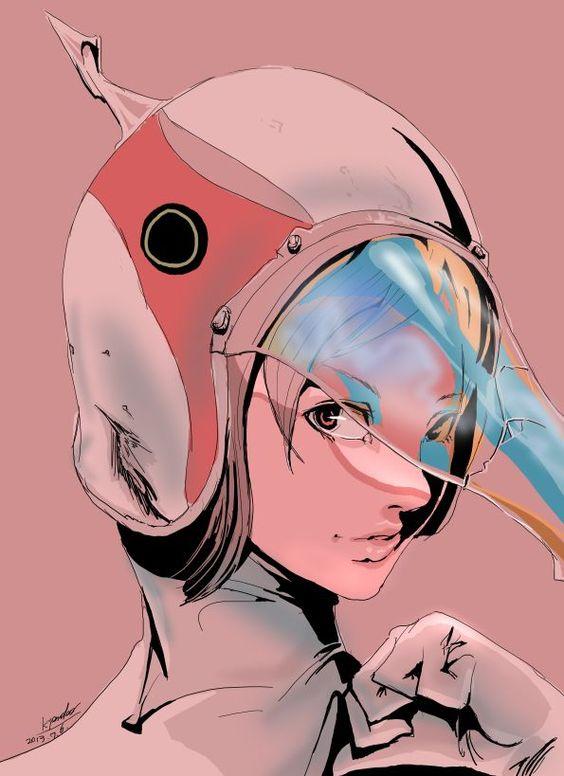 アップで描く白鳥のジュンのかっこいい画像。