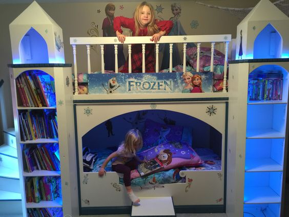 Frozen Castle Bunk Beds for Girls