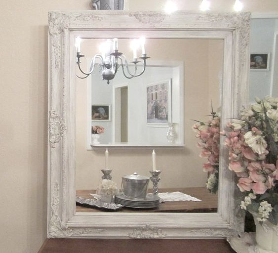 ivory framed mirror baroque framed mirrors for sale french. Black Bedroom Furniture Sets. Home Design Ideas