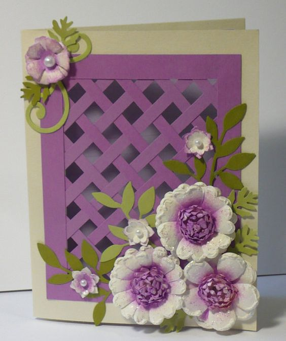 Like this lattice idea.  Probably more work than I want to invest, but it's sure pretty!  But for a very special occasion.....   =)