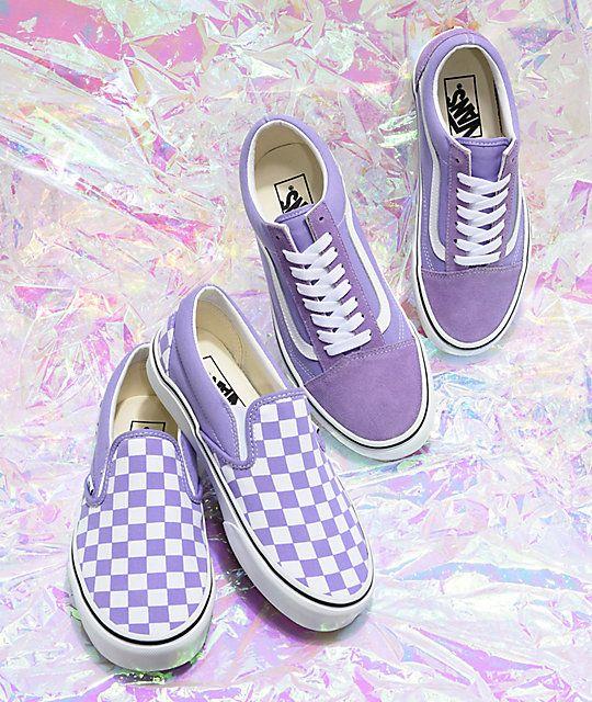 Vans Old Skool Violet & White Skate Shoes in 2020 | Purple ...