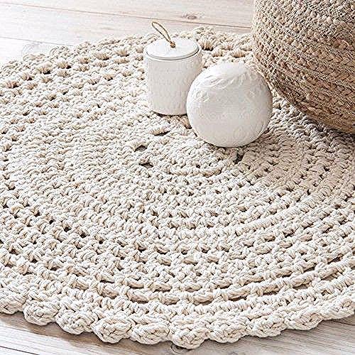 Linge Deco Tapis Rond Tapis En Crochet Et Tapis