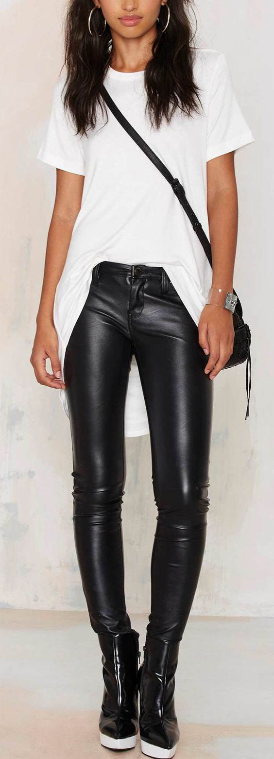 Be the baddest babe in these leather pants . | ...Well Said...Well ...