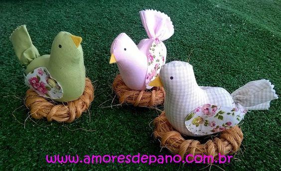 Amores de Pano: Cada um no seu ninho!!!