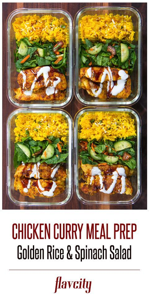 Curry Spiced Chicken Meal Prep Lunch Meal Prep Meal Prep Meals