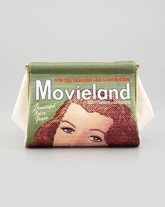 Charlotte Olympia Movieland Magazine Clutch Bag