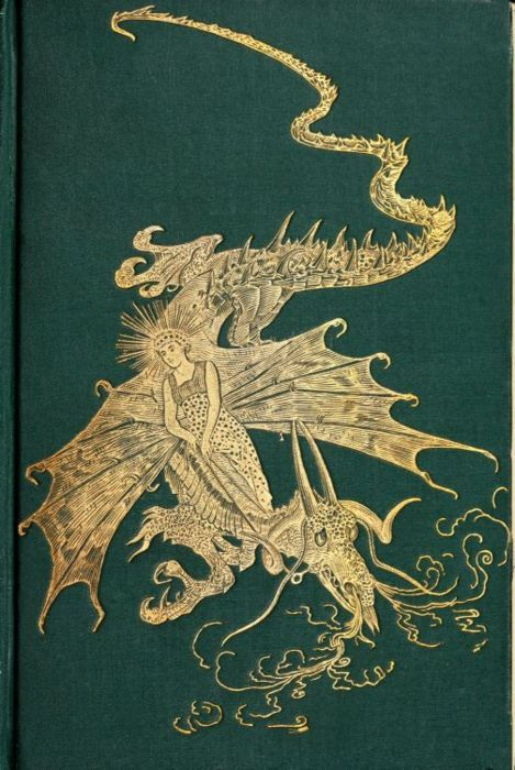 ≈ Beautiful Antique Books ≈ The Green Fairy Book - Great Dragon!