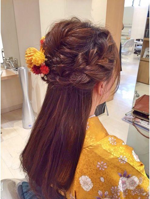 ヘアーアンドメイク ブロッサム 志木南口店 Hair Make Blossom 卒業式ハーフアップ 成人式 ヘアスタイル ロング 卒業式 髪型 ハーフアップ 卒業式 髪型