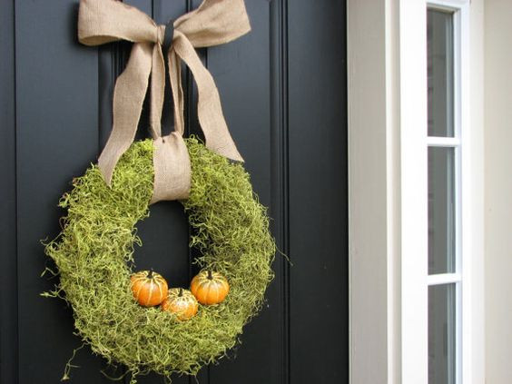 Fall Wreath - The Three Little Pumpkins Wreath - Original FREE SHIPPING: