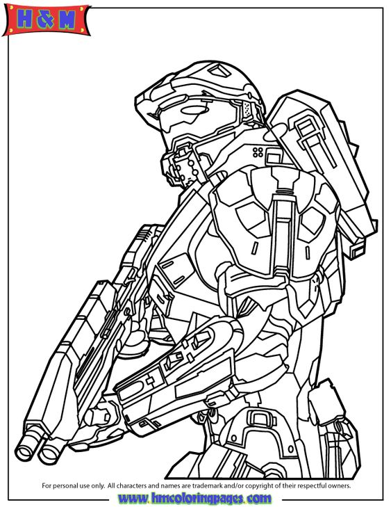 Halo 3 Coloring Pages To Print AZ Coloring Pages Red VS Blue