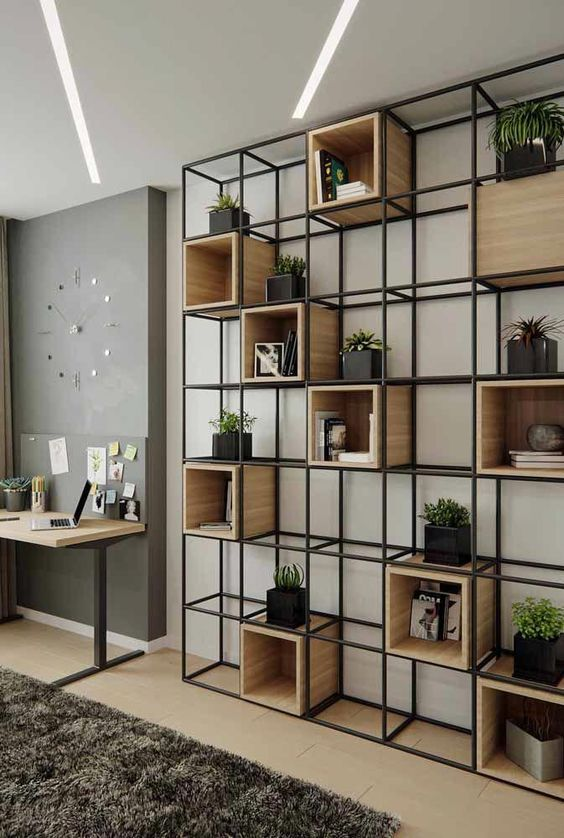 62 Simple But Practical Diy Shelves Decorations Ideas Page 19 Of 62 Lovein Home Home Office Design Industrial Style Decor Interior