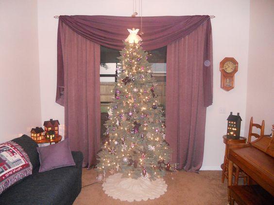 My purple and white tree