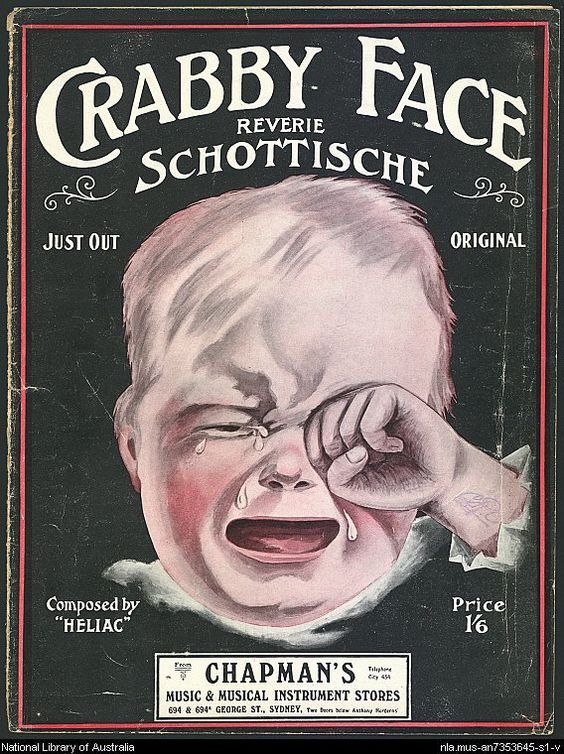 Crabby face. 1912. Reverie Schottische. By Heliac.